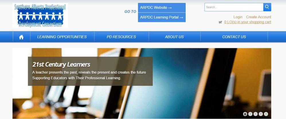 Banner image of ARPDC Joomla! Website by Edmonton web design company Chinook Multimedia