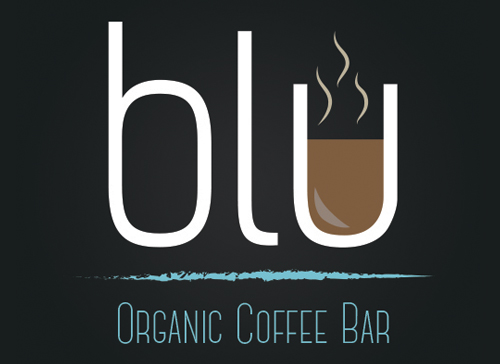 Draft 1 Blue Organic Coffee Logo