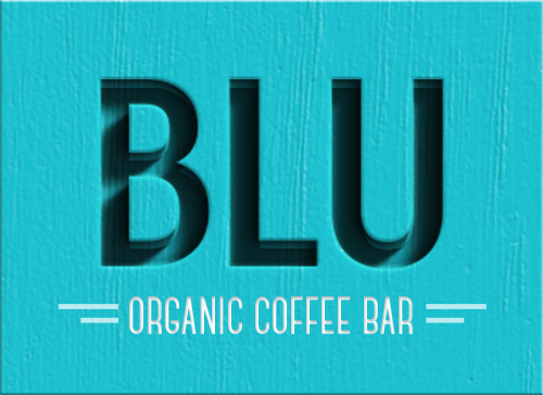 Draft 2 Blu Organic Coffee Logo
