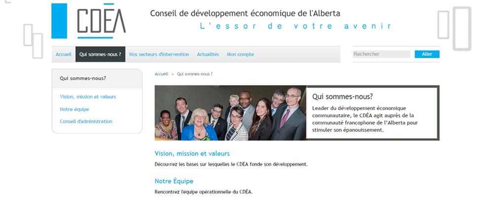 Qui sommes nous slider image, CDEA Joomla! website, by Edmonton Joomla! company Chinook Multimedia