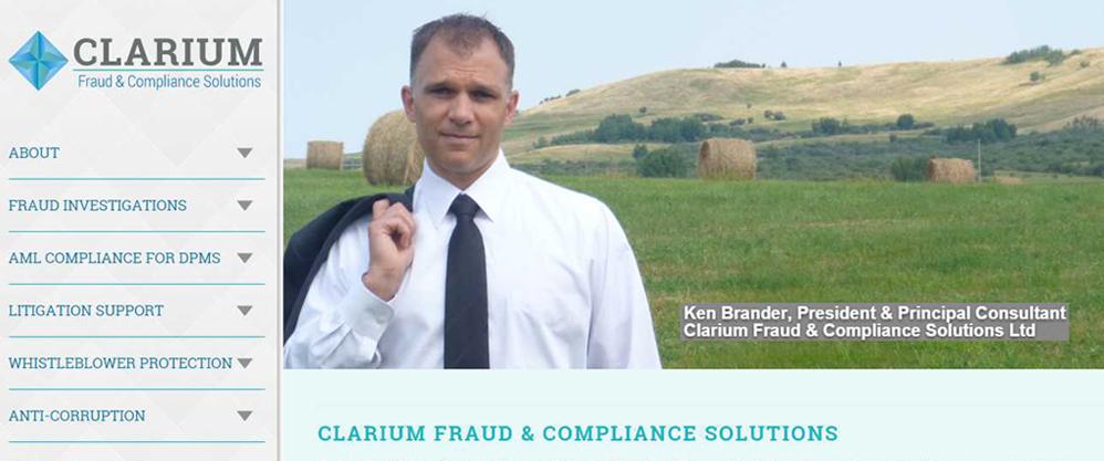 Image of Ken Brander, Clarium FCS Joomla! website by Edmonton web design company Chinook Multimedia