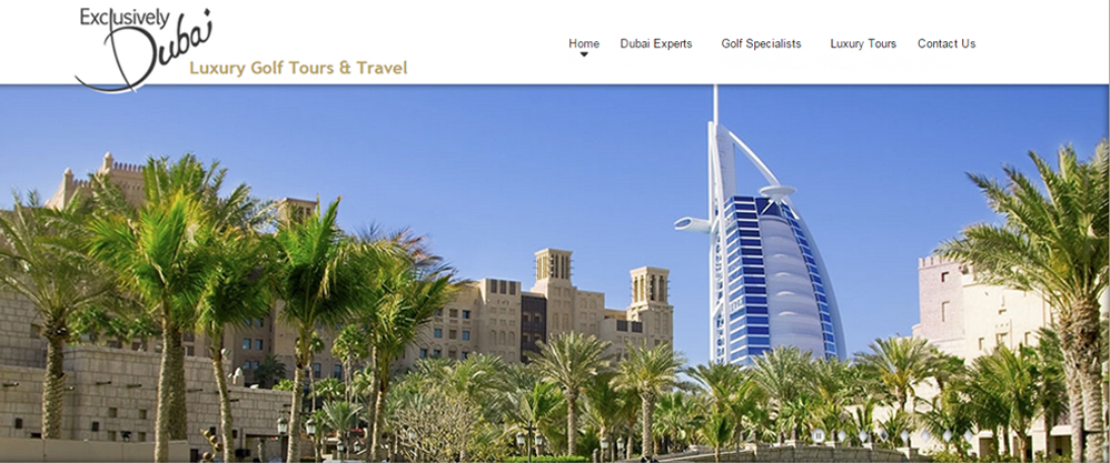 Exclusively Dubai, Dubai Experts image, Joomla! website design by Chinook Multimedia