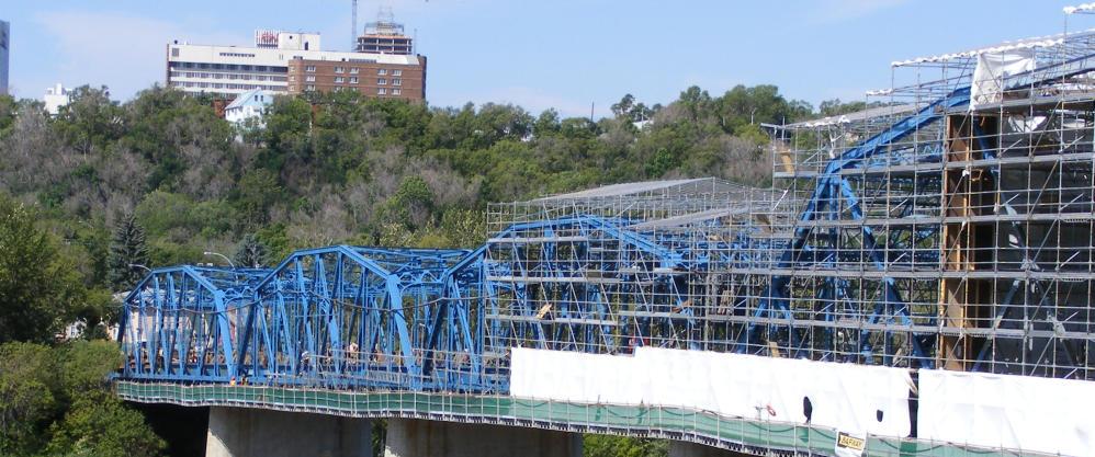 Photo of IUPAT Local 177 Dawson Bridge Infrastructure Project - Edmonton web design by Chinook Multimedia