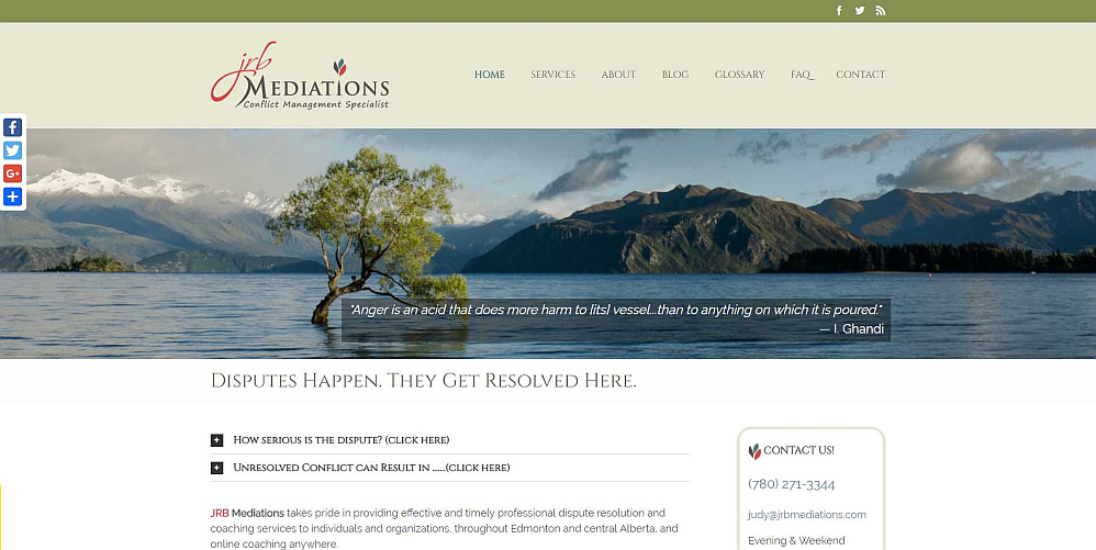 JRB Mediations WordPress Website