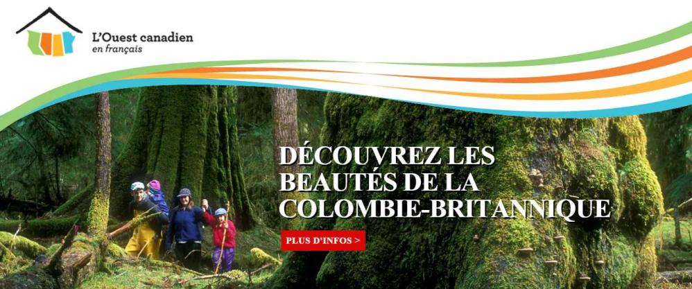 Banner image of L'ouest canadien Joomla! Website by Edmonton web design company Chinook Multimedia