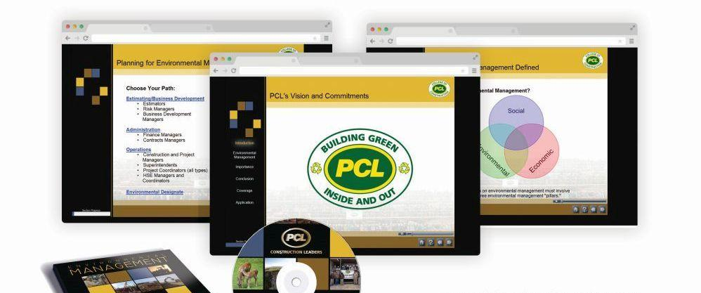 e-Learning courseware for PCL Constructors Ltd., e-Learning portfolio