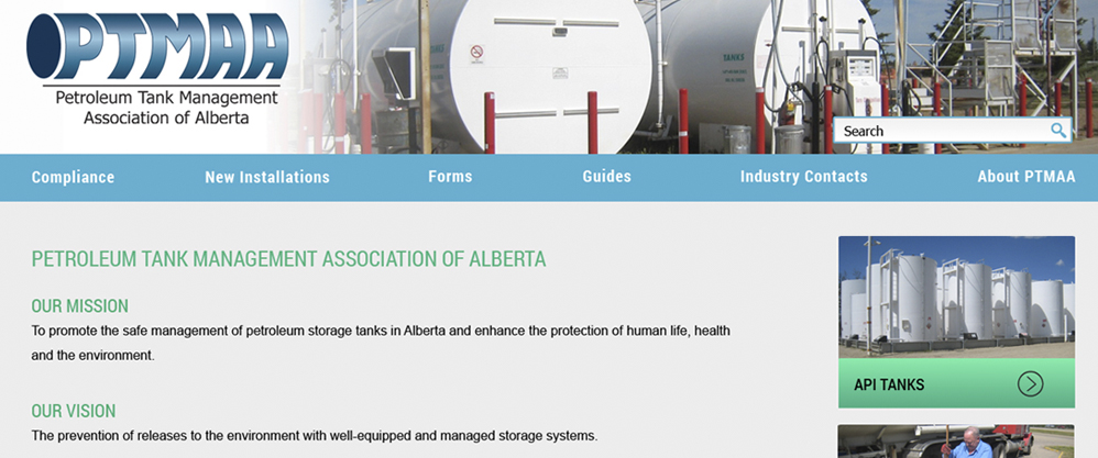 Petroleum Tank Management Association of Alberta Website